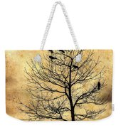 Vintage Blackbirds On A Winter Tree Weekender Tote Bag