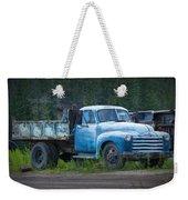 Vintage Blue Chevrolet Pickup Truck Weekender Tote Bag