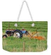 Vintage Blue Tractor Weekender Tote Bag