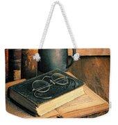 Vintage Books And Eyeglasses Weekender Tote Bag