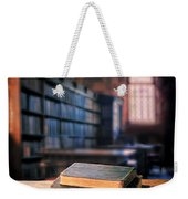 Vintage Books And Glasses In An Old Library Weekender Tote Bag