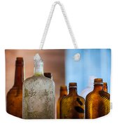 Vintage Bottles Weekender Tote Bag by Adam Romanowicz