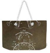 Vintage Braces Patent Weekender Tote Bag