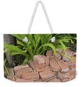 Vintage Brick Weekender Tote Bag
