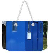 Vintage British Blue Police Phone Box Weekender Tote Bag