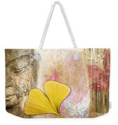 Vintage Buddha And Ginkgo Weekender Tote Bag