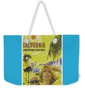 Vintage California Travel Poster Weekender Tote Bag