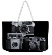 Vintage Camera Trio Weekender Tote Bag