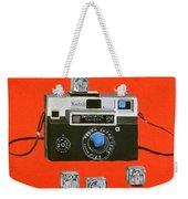 Vintage Camera With Flash Cube Weekender Tote Bag