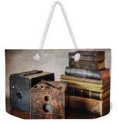 Vintage Cameras And Books Weekender Tote Bag