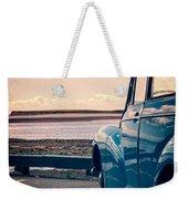 Vintage Car At The Beach  Weekender Tote Bag