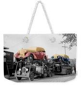 Vintage Car Carrier Weekender Tote Bag