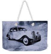 Vintage Car Weekender Tote Bag by David Ridley