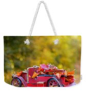 Vintage Car With Autumn Leaves Weekender Tote Bag