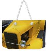 Vintage Car Yellow Weekender Tote Bag