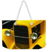 Vintage Car Yellow Detail Weekender Tote Bag