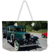 Vintage Cars Green Chevrolet Weekender Tote Bag