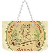 Vintage Cheese Label 2 Weekender Tote Bag by Debbie DeWitt