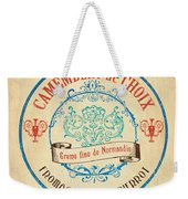 Vintage Cheese Label 4 Weekender Tote Bag by Debbie DeWitt