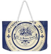 Vintage Cheese Label 5 Weekender Tote Bag