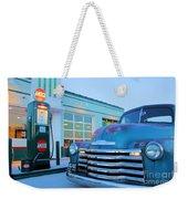 Vintage Chevrolet At The Gas Station Weekender Tote Bag