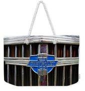 Vintage Chevrolet Grille Emblem Weekender Tote Bag
