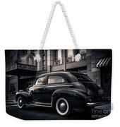 Vintage Chevrolet In 1934 New York City Weekender Tote Bag