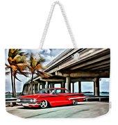 Vintage Chevy Impala Weekender Tote Bag