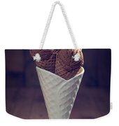 Vintage Chocolate Ice Cream Weekender Tote Bag by Amanda Elwell