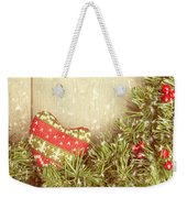Vintage Christmas Garland Weekender Tote Bag by Amanda Elwell