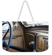Vintage Chrysler Auto Dashboard And Steering Wheel Poster Look Weekender Tote Bag
