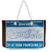 Vintage Coca Cola Ad Weekender Tote Bag