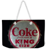 Vintage Coca Cola Bottle Cap Weekender Tote Bag