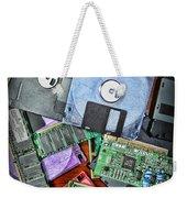 Vintage Computer Parts Weekender Tote Bag by Paul Ward