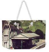Vintage Corfe Castle Weekender Tote Bag
