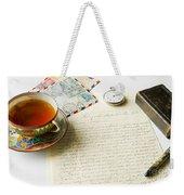 Vintage Correspondence Weekender Tote Bag