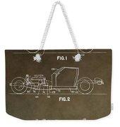 Vintage Corvette Patent Weekender Tote Bag