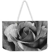 Vintage Cracked Rose Weekender Tote Bag