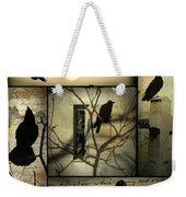 Vintage Crow Art Collage Weekender Tote Bag