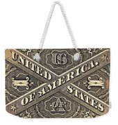 Vintage Currency  Weekender Tote Bag by Chris Berry