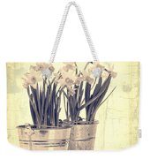 Vintage Daffodils Weekender Tote Bag