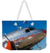 Vintage Dc-3 Airplane Weekender Tote Bag