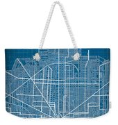 Vintage Detroit Rail Concept Street Map Blueprint Plan Weekender Tote Bag
