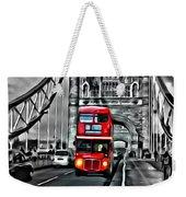 Vintage Double Decker In London Weekender Tote Bag