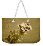 Vintage Double Petunia Weekender Tote Bag