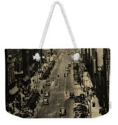 Vintage Downtown View Weekender Tote Bag
