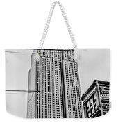 Vintage Empire State Building Weekender Tote Bag