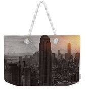 Vintage Empire State Building Weekender Tote Bag