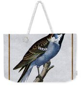 Vintage English Sparrow Square Weekender Tote Bag
