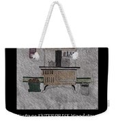 Vintage Enterprise Woodstove Weekender Tote Bag